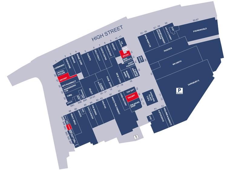 Pavilions Store Map