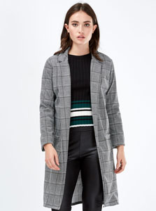 Grey duster jacket