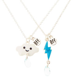 Rain and Cloud Best Friend Necklace Set