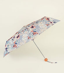 Coral Floral Collapsible Umbrella