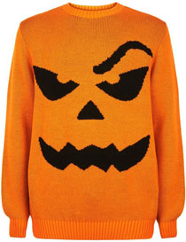 New Look Orange Halloween Pumpkin Jumper