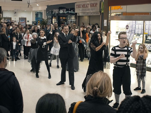 halloween flash mob