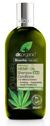Dr Organic Hemp Oil 2 in 1 Shampoo & Conditioner