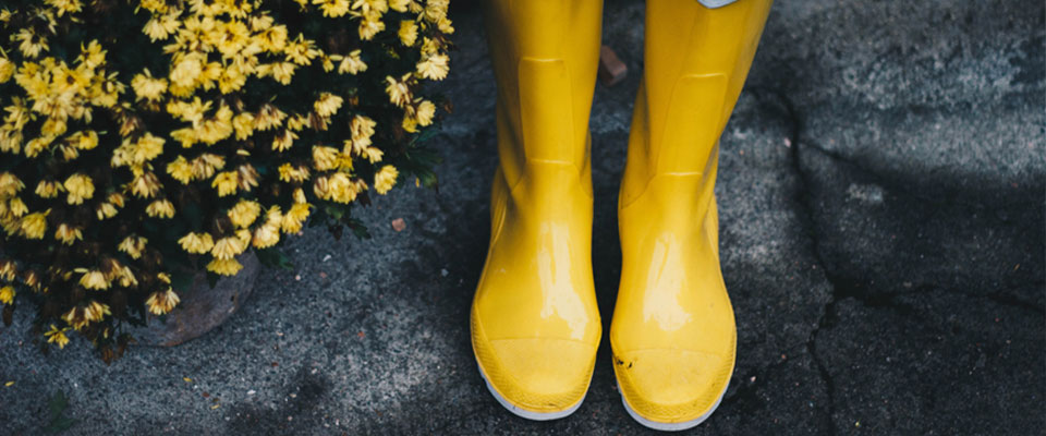 marigold yellow boots