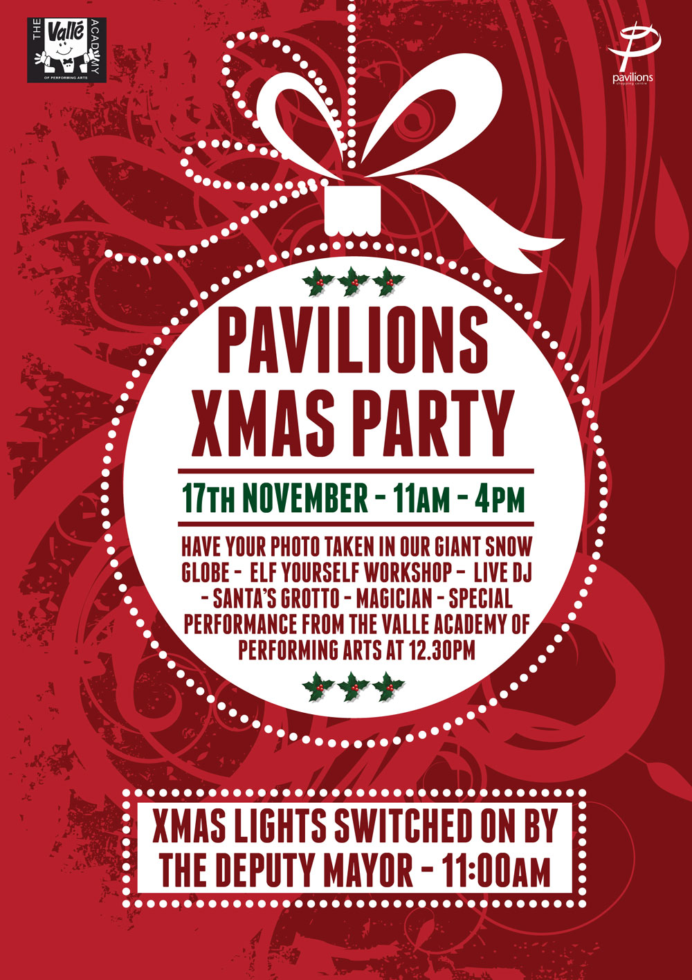Christmas Party Poster.Christmas Party 17th November Pavilions Waltham Cross