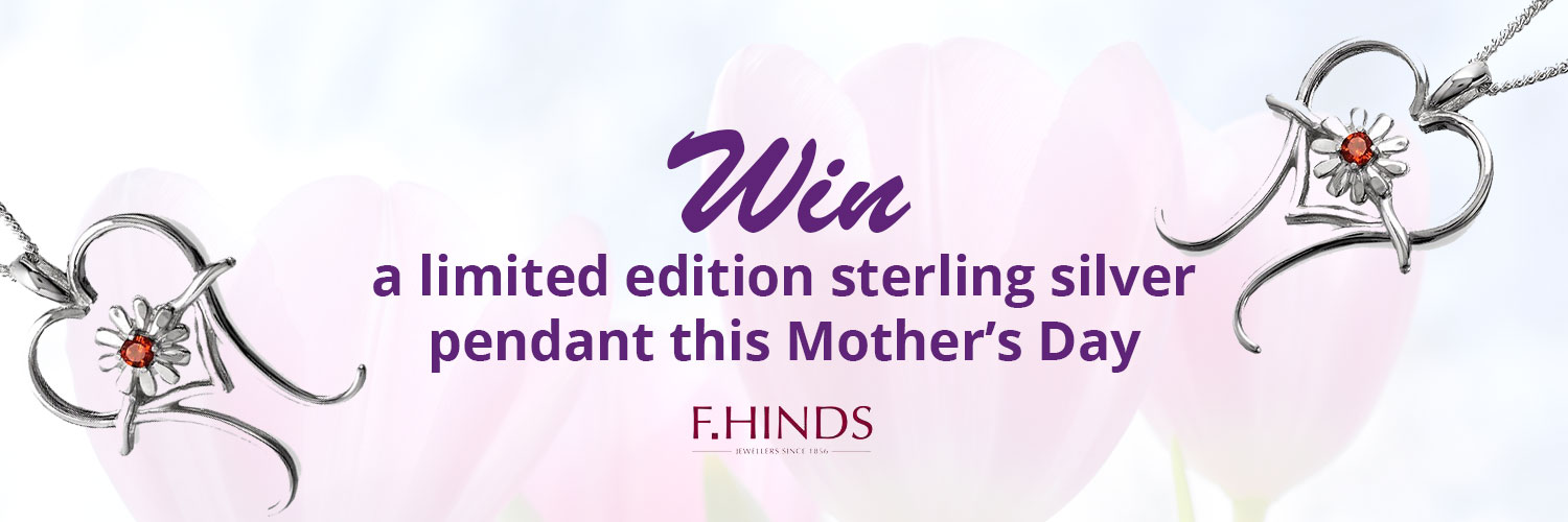 Win a limited edition sterling silver pendant this Mother's Day