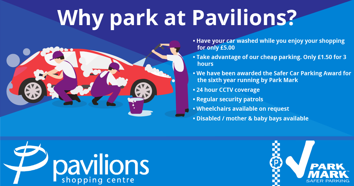why not park at the pavilions
