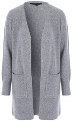 Womens Grey Chunky Cardigan