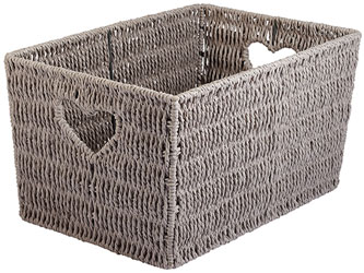 Home Woven Heart Storage Basket Large