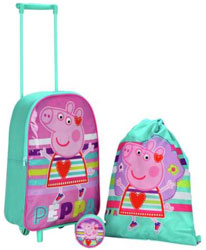 Peppa Pig 3 Piece Children's Luggage Set