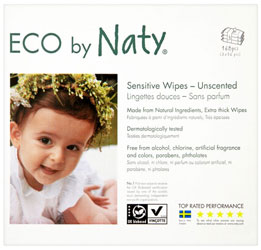 Naty Sensitive Unscented Baby Wipes