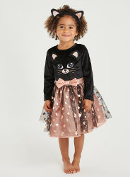 Halloween cat outfit including tutu and ears