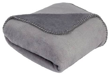 Home Supersoft Fleece Throw - Flint Grey