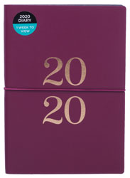 2020 Burgundy Week To View Essentials A5 Diary