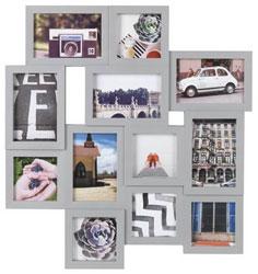 Home 12 Aperture Photo Frame - Grey